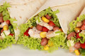 Chicken Wrap Sandwich Royalty Free Stock Photo
