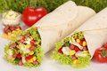 Chicken Wraps Royalty Free Stock Photos