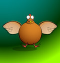 Chickens r round chicken flapping part of a series cartoon her wings all elements are clearly named grouped and layered to allow Royalty Free Stock Image