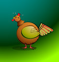 Chickens r round rooster crowing part of a series cartoon all elements are clearly named grouped and layered to allow easy editing Stock Images