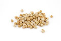 Chickpea beans or chana on white background, isola Royalty Free Stock Image