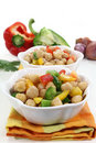 Chickpea salad Stock Images
