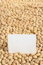 Chickpeas with Blank Card Royalty Free Stock Photography