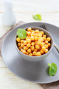 Chickpeas in a bowl food Stock Photo