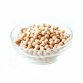 Chickpeas bowl isolated on white raw in a transparent Stock Photos