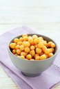 Chickpeas in a ceramic bowl food closeup Royalty Free Stock Image