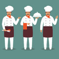 Chief Cook Character. white restaurant profession uniform