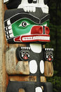 Chief Wakas totem pole Stock Images