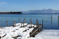 Chiemsee in bavaria in winter Stock Image