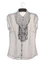 Chiffon blouse with jabot elegant Stock Images