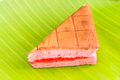 Chiffon cake stuffed with strawberry Royalty Free Stock Image