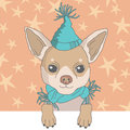 Chihuahua in cap illustration of Royalty Free Stock Photography