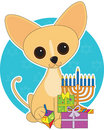 Chihuahua Hanukkah Royalty Free Stock Photography