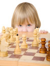 Child ang chess Royalty Free Stock Photography