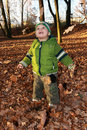 Child and autumn Royalty Free Stock Images