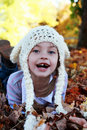 Child in Autumn Royalty Free Stock Photo