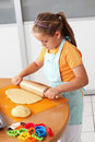 Child baking cookies Royalty Free Stock Photo
