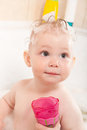 Child bathing Royalty Free Stock Image