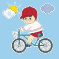 Child bicycle Stock Photo