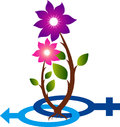 Child is blossoming logo