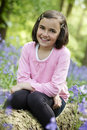 Child and bluebells Royalty Free Stock Photo