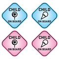 Child on board signs in boy or girl colors vector files available Stock Images