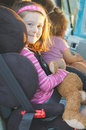 Child in car seat Stock Image