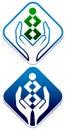 Child care logo isolated illustrated design Stock Photo