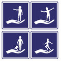 Child care signs set of signposts for all services related to small children Royalty Free Stock Image