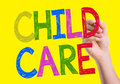 Child care written on the wipe board Royalty Free Stock Photos