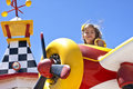 Child on Carnival Ride Royalty Free Stock Photo