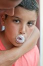 Child with chewing gum bubbles Royalty Free Stock Image