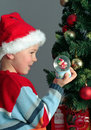 Child and christmas gifts Stock Photo