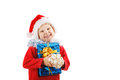 Child with Christmas presents Stock Image
