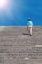 Child climbing stairs Royalty Free Stock Photo