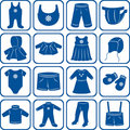 Child clothes set Royalty Free Stock Photo