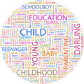Child concept illustration graphic tag collection wordcloud collage Stock Photos
