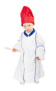 Child with cook chef uniform Stock Photo