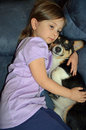 Child and a Corgi Royalty Free Stock Photography