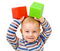 Child with cubes Royalty Free Stock Photos