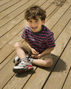 Child on deck Royalty Free Stock Photography