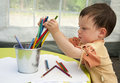Child drawing Royalty Free Stock Image