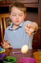 Child dying eggs for easter Stock Images