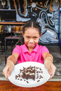 Child eat brownie Royalty Free Stock Photo