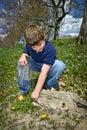 Child Exploring Royalty Free Stock Photos