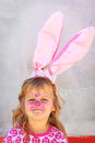 Child facepaint easter bunny Royalty Free Stock Images