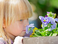 Child with flower Royalty Free Stock Photography