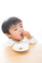 Child and food Stock Images