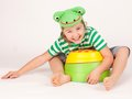 Child frog Stock Images