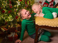 Child fun with christmas Royalty Free Stock Photo